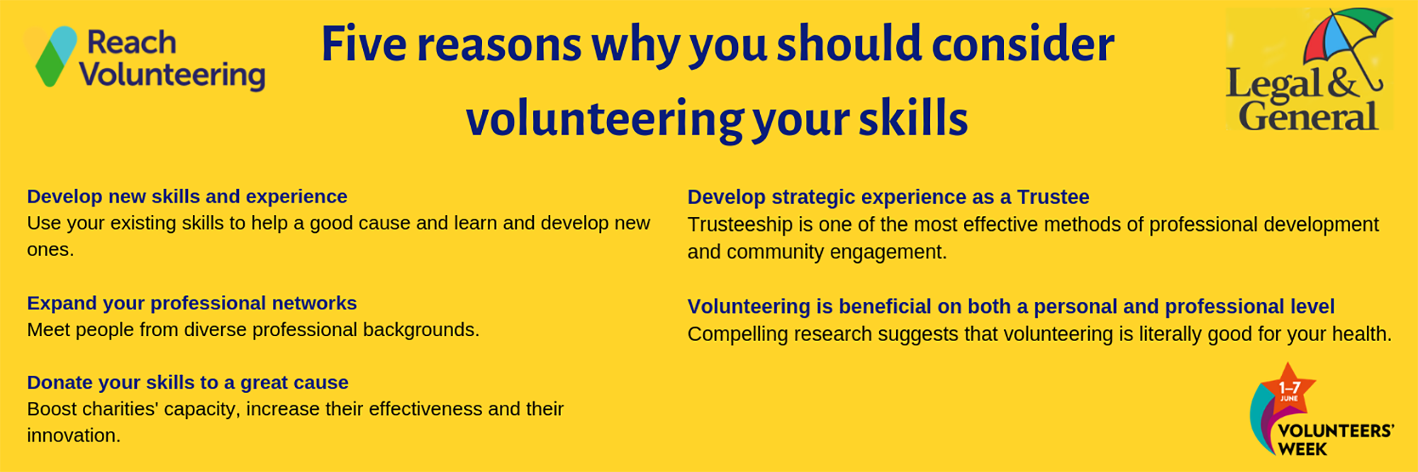 Five reasons to volunteer your skills