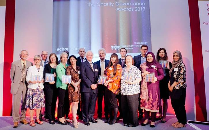 Crowd receiving the Charity Governance Awards