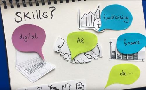 Skills trustees might need: HR, digital, marketing, finance etc...