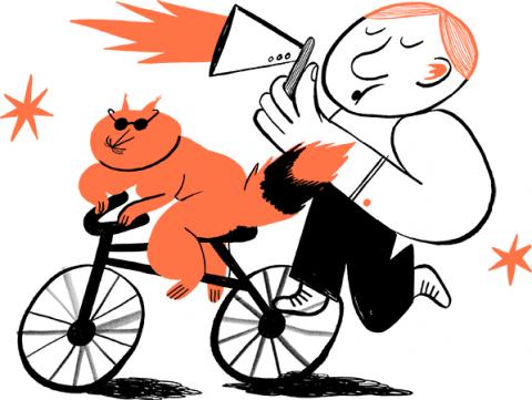Advertise illustration